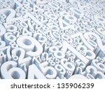 numbers | Shutterstock . vector #135906239