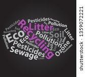 text cloud. eco wordcloud.... | Shutterstock . vector #1359072221