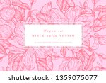 vintage card with magnolia... | Shutterstock .eps vector #1359075077