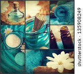 spa collage series. spa collage ... | Shutterstock . vector #135908249