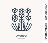 lavender flower flat line icon. ... | Shutterstock .eps vector #1359088064