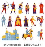 medieval tales characters flat... | Shutterstock .eps vector #1359091154