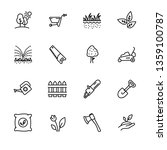 icon set gardening  agriculture ...   Shutterstock . vector #1359100787