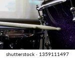 Drum Sticks Resting On Snare