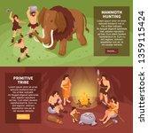 isometric primitive people... | Shutterstock .eps vector #1359115424