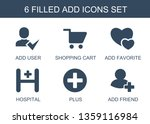 add icons. trendy 6 add icons....   Shutterstock .eps vector #1359116984