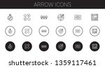 arrow icons set. collection of...