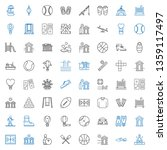 recreation icons set.... | Shutterstock .eps vector #1359117497