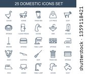 domestic icons. trendy 25... | Shutterstock .eps vector #1359118421