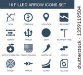 16 arrow icons. trendy arrow... | Shutterstock .eps vector #1359119504