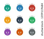angry emot icon white... | Shutterstock .eps vector #1359119684