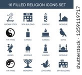 16 religion icons. trendy... | Shutterstock .eps vector #1359119717