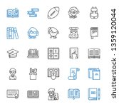 college icons set. collection... | Shutterstock .eps vector #1359120044