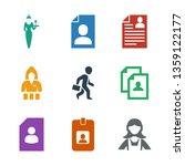 9 occupation icons. trendy... | Shutterstock .eps vector #1359122177