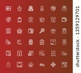 editable 36 merchandise icons... | Shutterstock .eps vector #1359129701