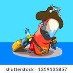 fun parrot   3d illustration | Shutterstock . vector #1359135857