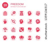 freedom icon set. collection of ... | Shutterstock .eps vector #1359136517