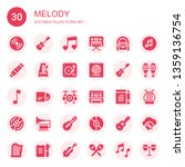 melody icon set. collection of... | Shutterstock .eps vector #1359136754