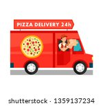 courier in delivery truck... | Shutterstock .eps vector #1359137234