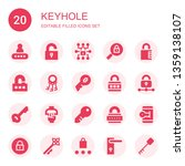 keyhole icon set. collection of ... | Shutterstock .eps vector #1359138107