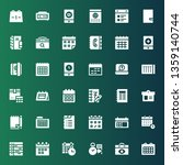 organizer icon set. collection... | Shutterstock .eps vector #1359140744
