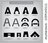 vector logo with typography... | Shutterstock .eps vector #1359143111