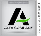 vector logo with typography... | Shutterstock .eps vector #1359143114