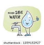 cute cartoon water drop...   Shutterstock .eps vector #1359152927