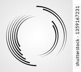 lines in circle form . spiral... | Shutterstock .eps vector #1359167231