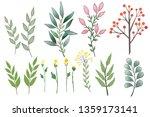 floral set  colorful floral... | Shutterstock . vector #1359173141