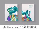 set of seasonal banners with... | Shutterstock .eps vector #1359177884