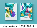set of seasonal banners with... | Shutterstock .eps vector #1359178214