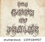 the book of pslams  the largest ... | Shutterstock . vector #1359184907