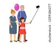 little girl with grandparents... | Shutterstock .eps vector #1359186377