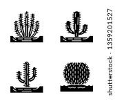 wild cacti in ground glyph... | Shutterstock .eps vector #1359201527