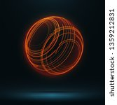 abstract 3d sphere consist of... | Shutterstock .eps vector #1359212831