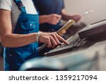 quality control process... | Shutterstock . vector #1359217094