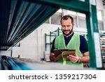 stock clerk controlling... | Shutterstock . vector #1359217304