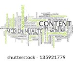 word cloud    content | Shutterstock . vector #135921779