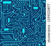 blue circuit board seamless... | Shutterstock .eps vector #1359223877