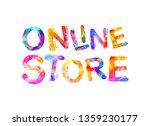 online store. inscription of...   Shutterstock .eps vector #1359230177