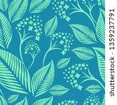 vector seamless floral pattern... | Shutterstock .eps vector #1359237791