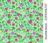 seamless summer pattern ... | Shutterstock .eps vector #1359246737