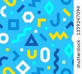 memphis seamless pattern.... | Shutterstock .eps vector #1359247094