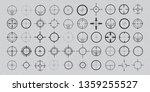 crosshair  gun sight   target ... | Shutterstock .eps vector #1359255527