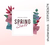 spring sale background with... | Shutterstock .eps vector #1359282674