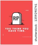 you think you have time... | Shutterstock .eps vector #1359290741