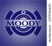 moody jean or denim emblem or... | Shutterstock .eps vector #1359296654