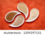 gluten free brown and ivory... | Shutterstock . vector #1359297131
