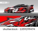 racing car decal design vector. ... | Shutterstock .eps vector #1359299474